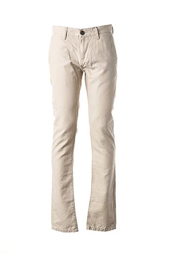 Pantalon casual beige TOM TAILOR pour homme