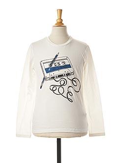 T-shirt manches longues blanc SORRY 4 THE MESS pour garçon