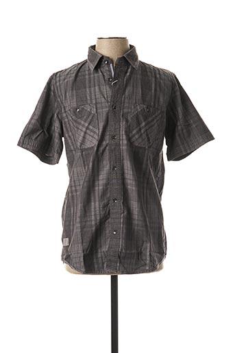Chemise manches courtes gris TOM TAILOR pour homme