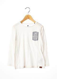 T-shirt manches longues blanc TOM TAILOR pour garçon
