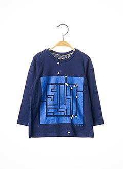 T-shirt manches longues bleu SORRY 4 THE MESS pour garçon