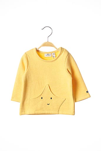 Pull col rond jaune TOM TAILOR pour fille