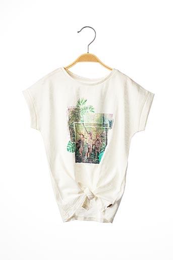 T-shirt manches courtes blanc TOM TAILOR pour fille