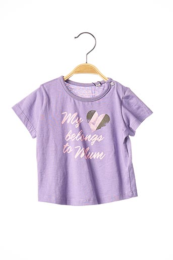 T-shirt manches courtes violet TOM TAILOR pour fille