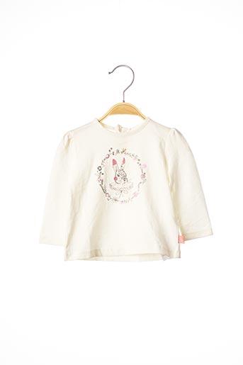 T-shirt manches longues blanc BILLIEBLUSH pour fille