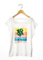 T-shirt manches courtes blanc BILLIEBLUSH pour fille seconde vue