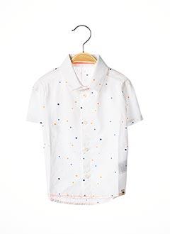 Chemise manches courtes blanc BILLYBANDIT pour garçon