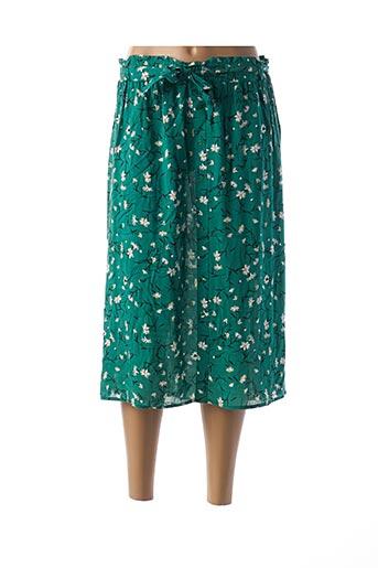 Jupe mi-longue vert C'EST BEAU LA VIE pour femme