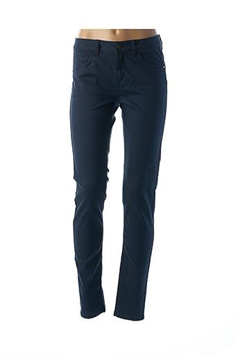 Pantalon casual bleu FRANSA pour femme