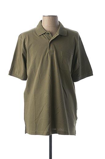 Polo manches courtes vert KITARO pour homme