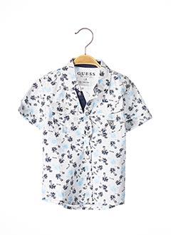 Chemise manches courtes blanc GUESS pour garçon