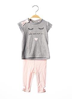 Top/pantalon gris BULLE DE BB pour fille