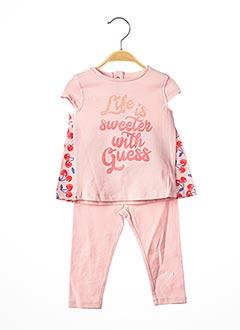 Top/pantalon rose GUESS pour fille