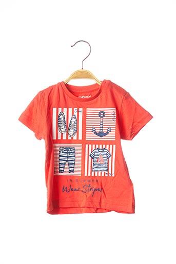 T-shirt manches courtes rouge MAYORAL pour garçon