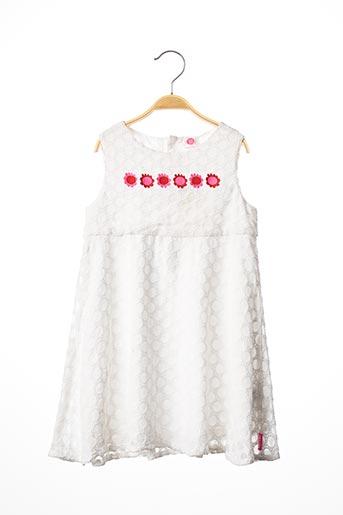 Robe mi-longue blanc TUC TUC pour fille