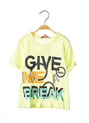 T-shirt manches courtes jaune BOBOLI pour garçon seconde vue