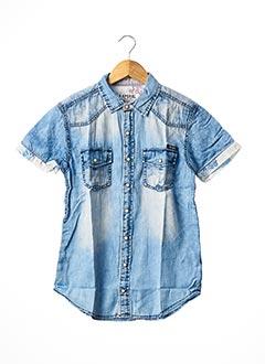 Chemise manches courtes bleu KAPORAL pour garçon