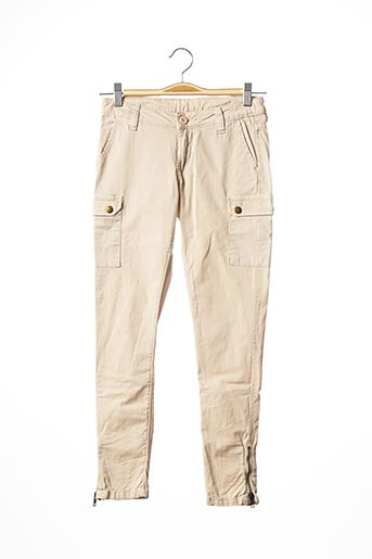 Pantalon casual beige LE TEMPS DES CERISES pour fille