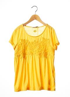 T-shirt manches courtes jaune LE TEMPS DES CERISES pour fille