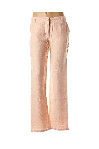 Pantalon casual orange POUSSIERE D'ETOLE pour femme