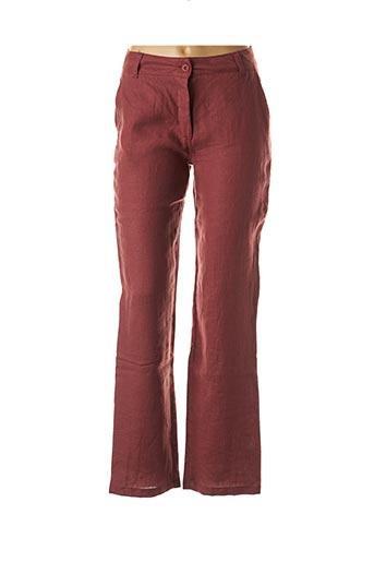 Pantalon casual rouge POUSSIERE D'ETOLE pour femme