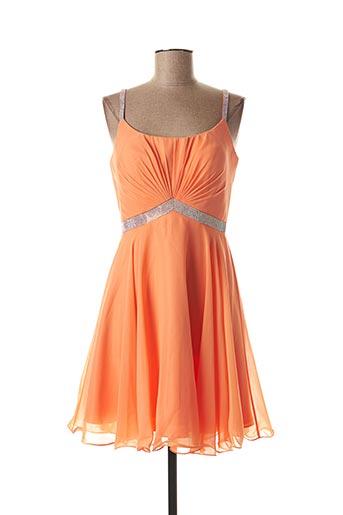 Robe courte orange FASHION NEW YORK pour femme