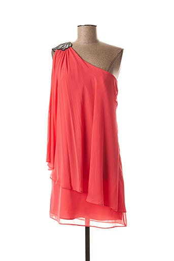 Robe courte orange FASHION NEW YORK pour femme