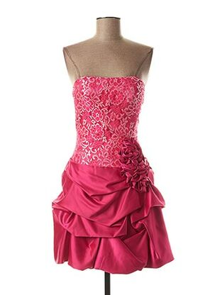 Robe courte rose FASHION NEW YORK pour femme