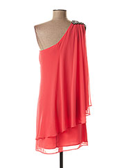 Robe courte orange FASHION NEW YORK pour femme seconde vue