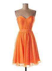 Robe mi-longue orange FASHION NEW YORK pour femme seconde vue
