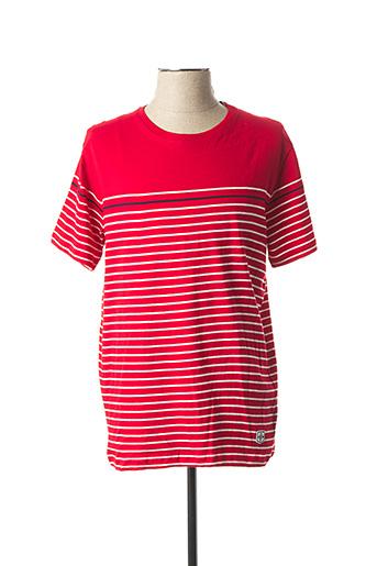 T-shirt manches courtes rouge TIFFOSI pour homme