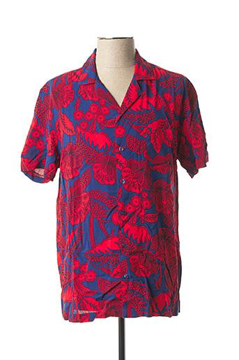 Chemise manches courtes rouge DESIGUAL pour homme