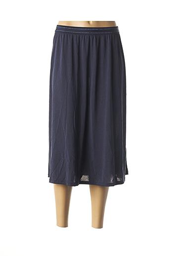 Jupe mi-longue bleu GARCIA pour femme