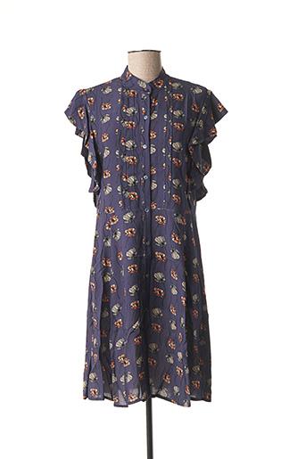 Robe mi-longue violet PAKO LITTO pour femme