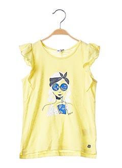 T-shirt manches courtes jaune 3 POMMES pour fille