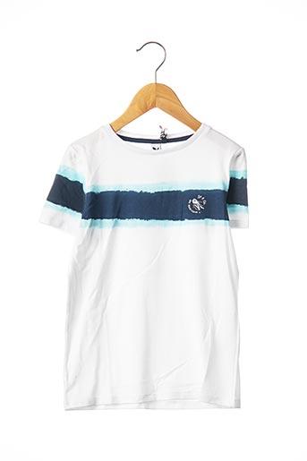 T-shirt manches courtes blanc 3 POMMES pour garçon