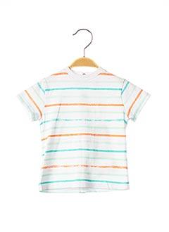 T-shirt manches courtes blanc 3 POMMES pour enfant