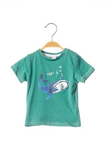 T-shirt manches courtes vert 3 POMMES pour garçon