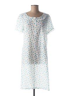 Chemise de nuit bleu CANAT pour femme