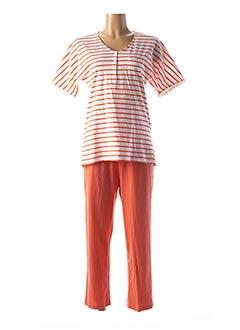 Pyjama orange CANAT pour femme