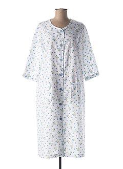 Robe de chambre blanc CANAT pour femme