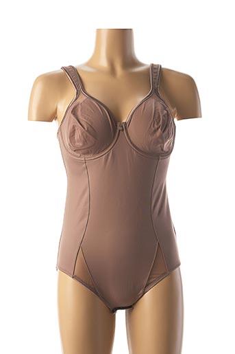 Body lingerie marron TRIUMPH pour femme