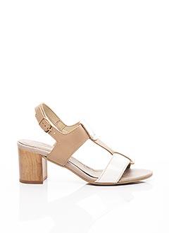 Sandales/Nu pieds beige ELUE PAR NOUS pour femme