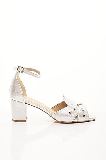 Sandales/Nu pieds gris DORKING pour femme
