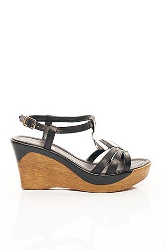 Sandales/Nu pieds noir SAMOA pour femme