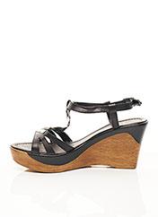 Sandales/Nu pieds noir SAMOA pour femme seconde vue