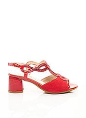 Sandales/Nu pieds rouge ILARIO MORELLI pour femme seconde vue