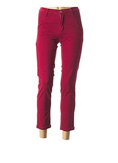 Pantalon 7/8 rouge LCDN pour femme