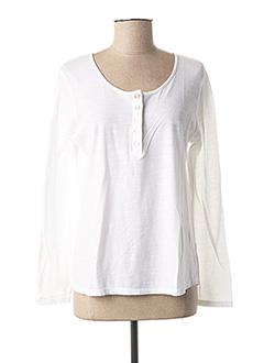 T-shirt manches longues blanc GIULIA B. pour femme