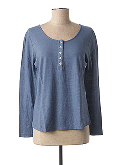 T-shirt manches longues bleu GIULIA B. pour femme